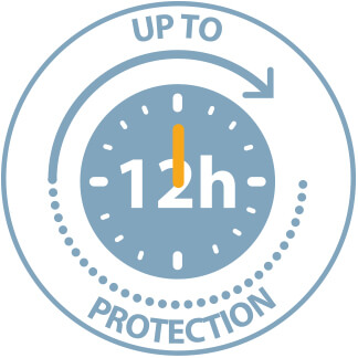 Up to 12h protection